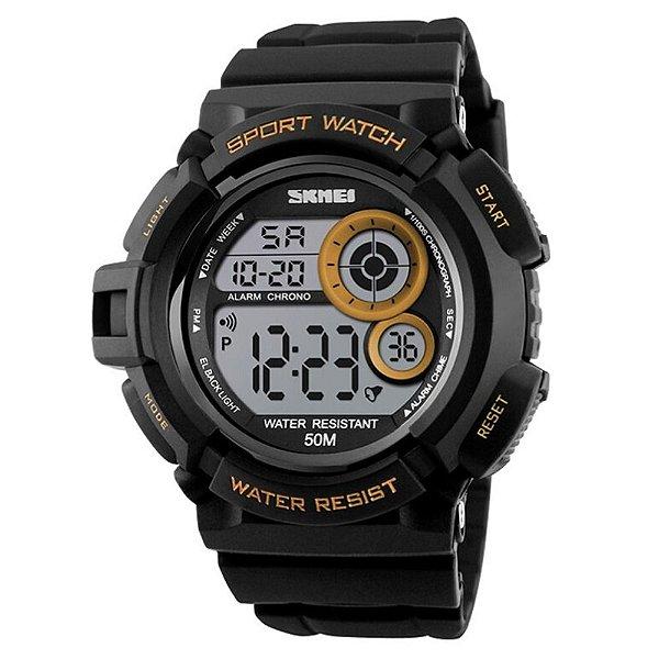 Relógio Masculino Skmei Digital 1222 - Preto e Dourado