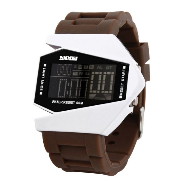 Relógio Masculino Skmei Digital 0817 - Marrom e Branco