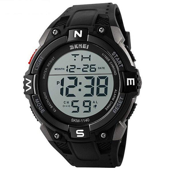Relógio Masculino Skmei Digital 1140 - Preto e Prata