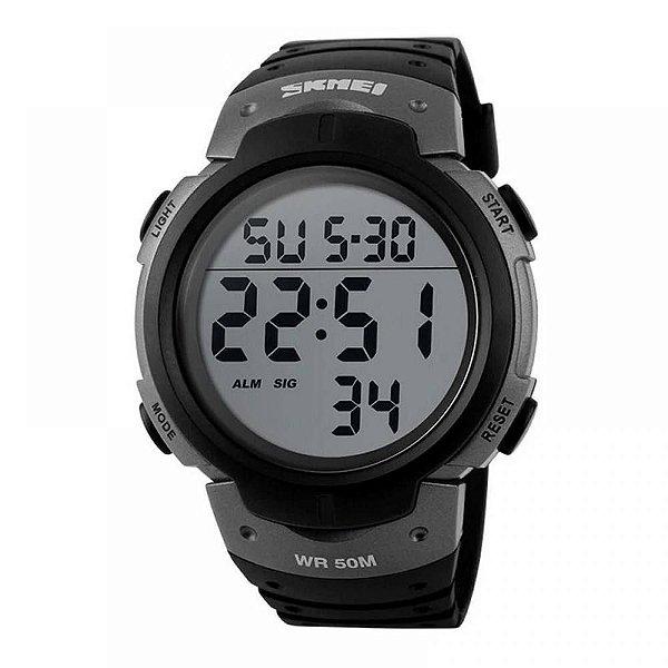 Relógio Masculino Skmei Digital 1068 - Preto e Cinza