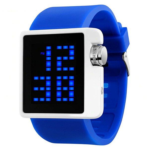 Relógio Masculino Skmei Digital 1145 - Azul e Branco