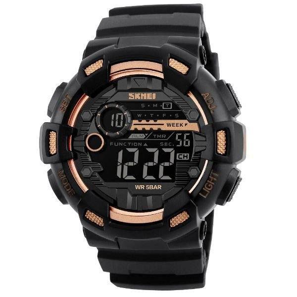 Relógio Masculino Skmei Digital 1243 - Dourado