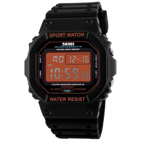 Relógio Masculino Skmei Digital 1134 - Preto e Laranja