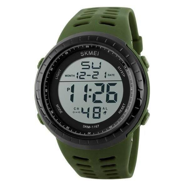 Relógio Masculino Skmei Digital 1167 Verde e Preto