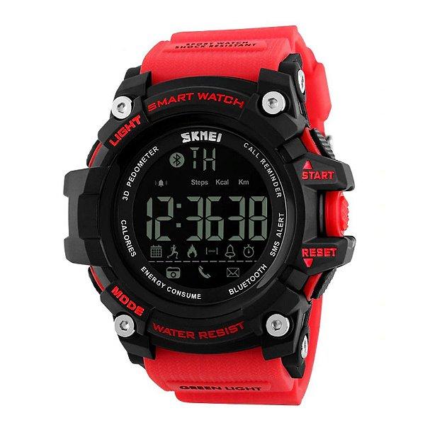 Relógio Smart Masculino Skmei Digital 1227 - Vermelho