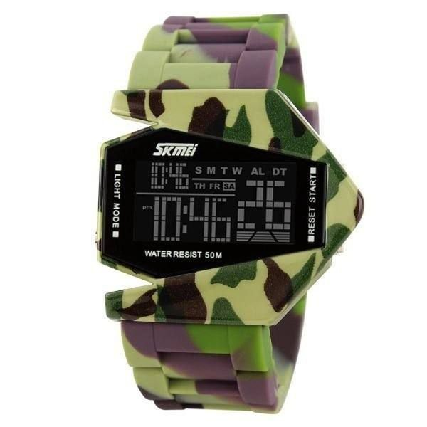 Relógio Masculino Skmei Digital 0817 - Camuflado Verde e Marrom