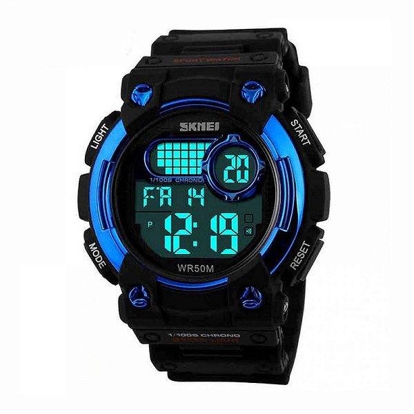 Relógio Masculino Skmei Digital 1054 Preto e Azul