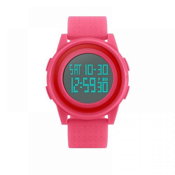Relógio Feminino Skmei Digital 1206 - Rosa e Vermelho