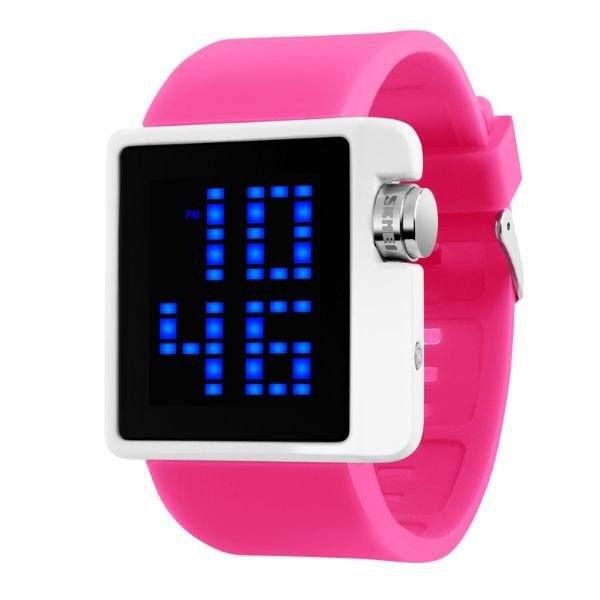 Relógio Feminino Skmei Digital 1145 - Rosa e Branco