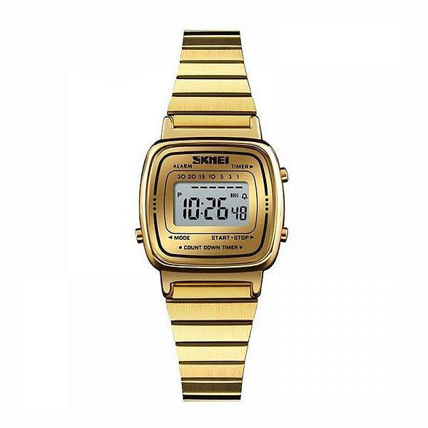 Relógio Feminino Skmei Digital 1252 Dourado
