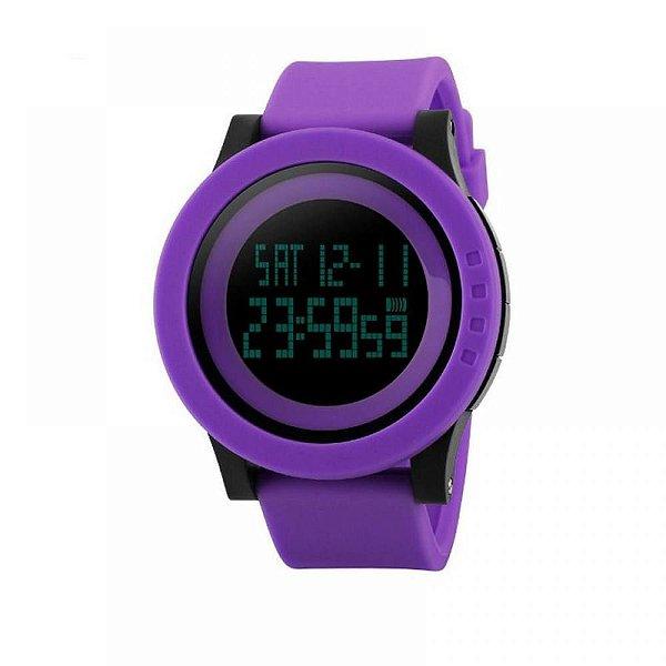Relógio Feminino Skmei Digital 1193 - Roxo e Preto