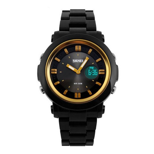 Relógio Feminino Skmei AnaDigi 1062 - Preto e Dourado