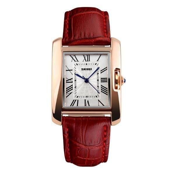 Relógio Feminino Skmei Analógico 1085 - Vermelho, Dourado e Branco