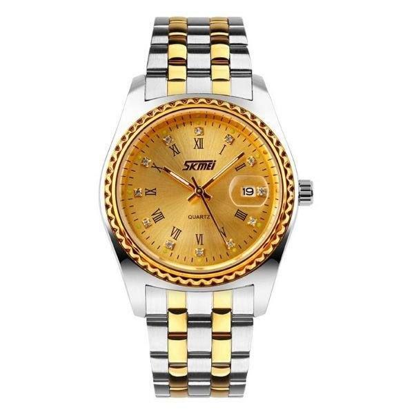 Relógio Feminino Skmei Analógico 9098 - Prata e Dourado
