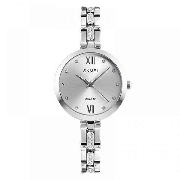 Relógio Feminino Skmei Analógico 1225 - Prata