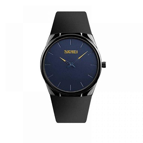 Relógio Feminino Skmei Analógico 1601S - Preto e Azul