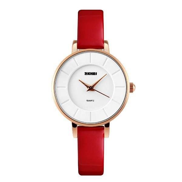 Relógio Feminino Skmei Analógico 1178 - Vermelho, Dourado e Branco