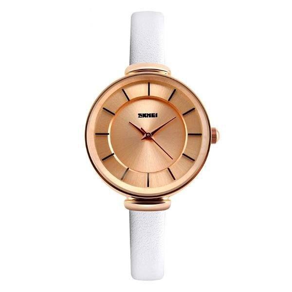 Relógio Feminino Skmei Analógico 1184 - Branco e Rose (Bronze)