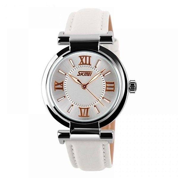 Relógio Feminino Skmei Analógico 9075 - Branco