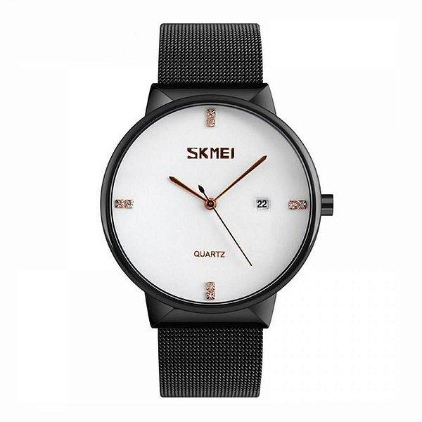 Relógio Feminino Skmei Analógico 9164 Preto e Branco