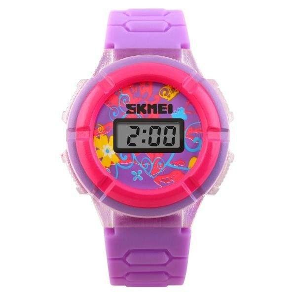 Relógio Infantil Skmei Digital 1097 - Roxo e Rosa