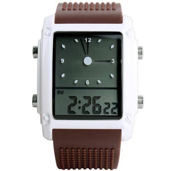 Relógio Unissex Skmei AnaDigi 0814G - Marrom e Branco