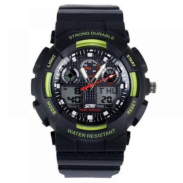 Relógio Masculino Skmei AnaDigi 0909 - Preto e Verde