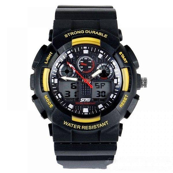 Relógio Masculino Skmei AnaDigi 0909 - Preto e Amarelo