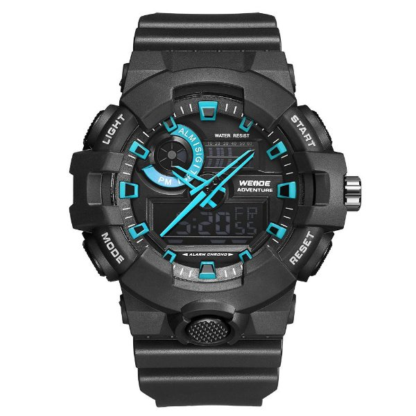 Relógio Masculino Weide AnaDigi WA3J8007 - Preto e Azul