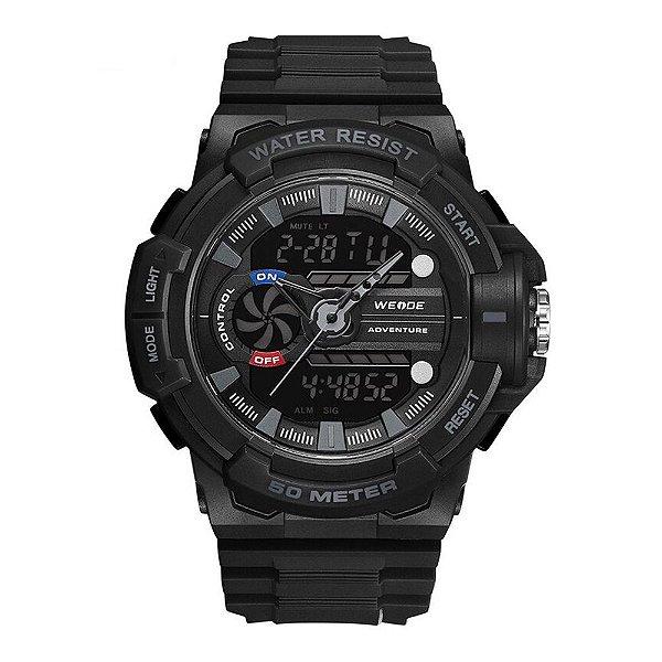 Relógio Masculino Weide AnaDigi WA3J8009 - Preto