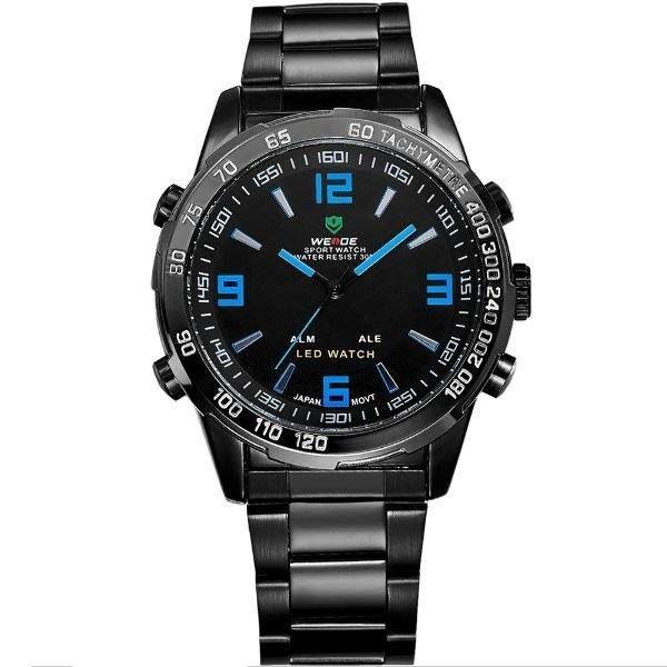 Relógio Masculino Weide AnaDigi WH-1009 - Preto e Azul