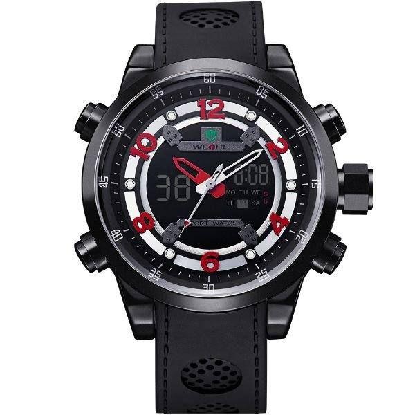 Relógio Masculino Weide AnaDigi Esporte WH-3315 - Preto e Vermelho