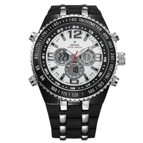 Relógio Masculino Weide AnaDigi WH-1107 - Preto e Prata