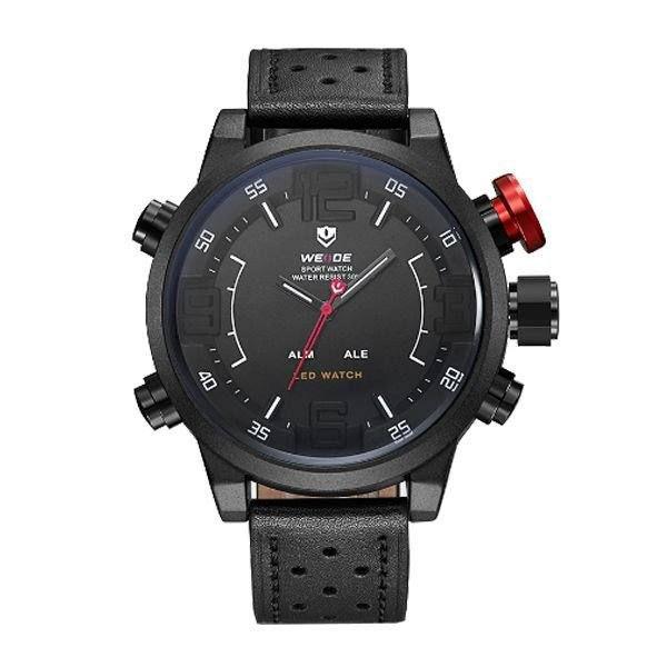 Relógio Masculino Weide AnaDigi WH-5210 - Preto e Branco
