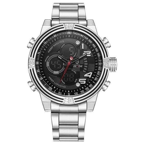 Relógio Masculino Weide AnaDigi WH-5209 - Prata e Preto