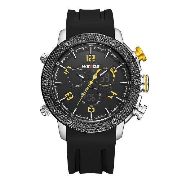 Relógio Masculino Weide AnaDigi WH-5206 - Preto e Amarelo