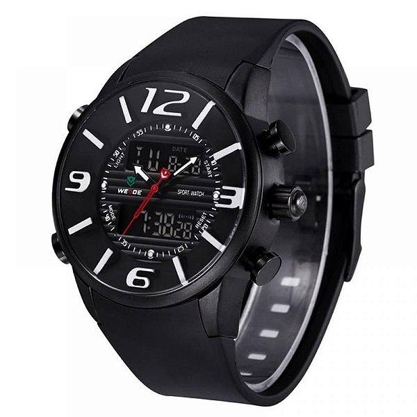 Relógio Masculino Weide AnaDigi Esporte WH-3402 - Preto e Branco