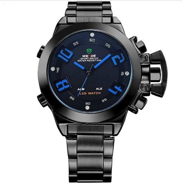 Relógio Masculino Weide AnaDigi WH-1008 - Preto e Azul