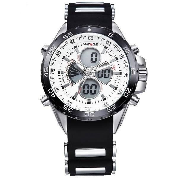 Relógio Masculino Weide AnaDigi WH-1103 - Preto e Branco
