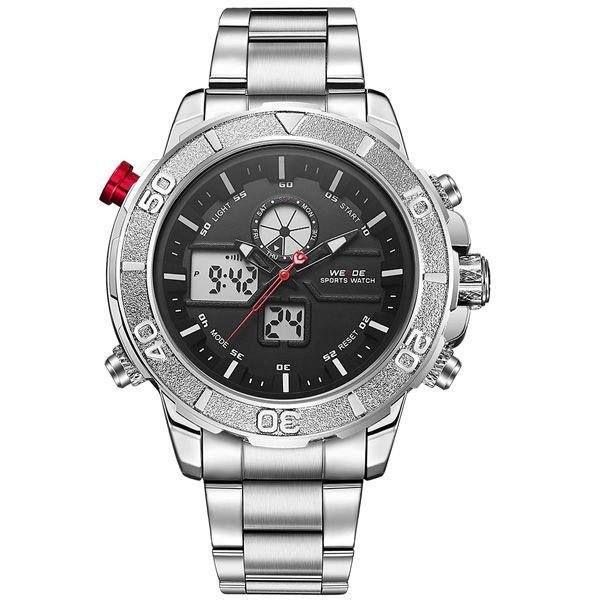 Relógio Masculino Weide AnaDigi WH-6108 - Prata e Preto