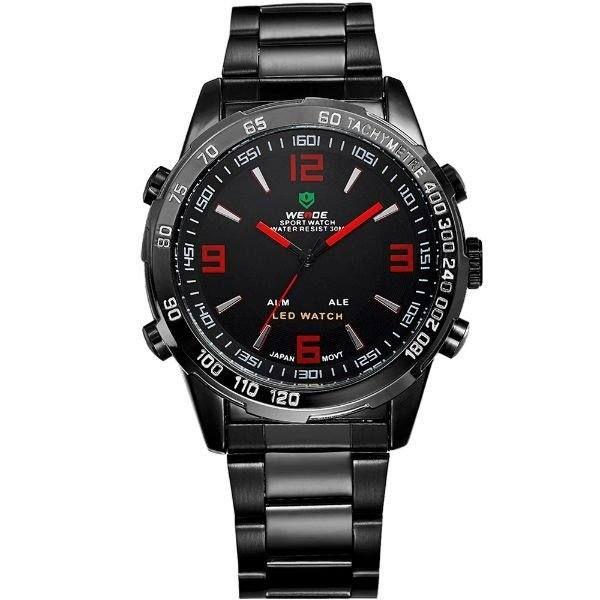 Relógio Masculino Weide AnaDigi 1063 - Preto e Vermelho