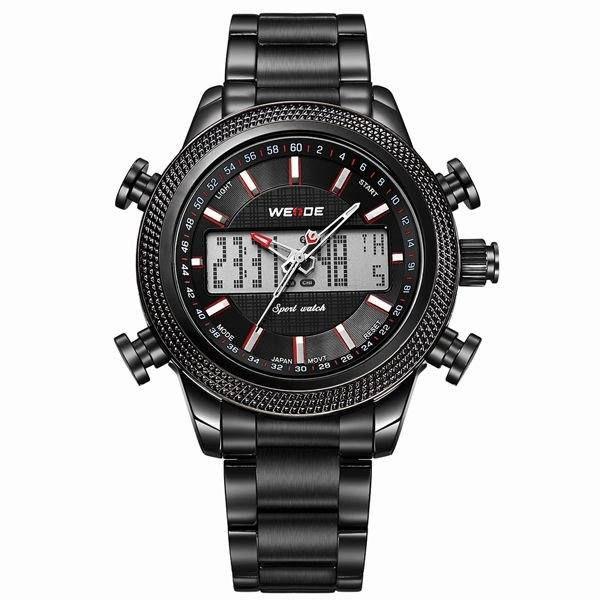 Relógio Masculino Weide AnaDigi WH-3406 - Preto e Vermelho