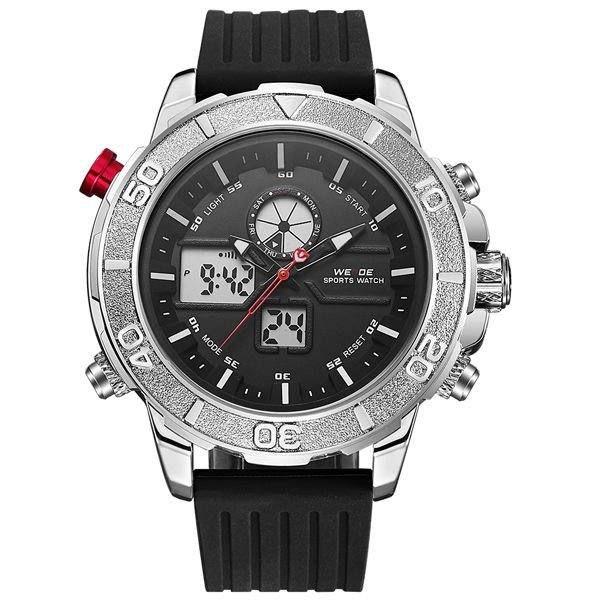 Relógio Masculino Weide AnaDigi WH-6108 - Preto e Prata