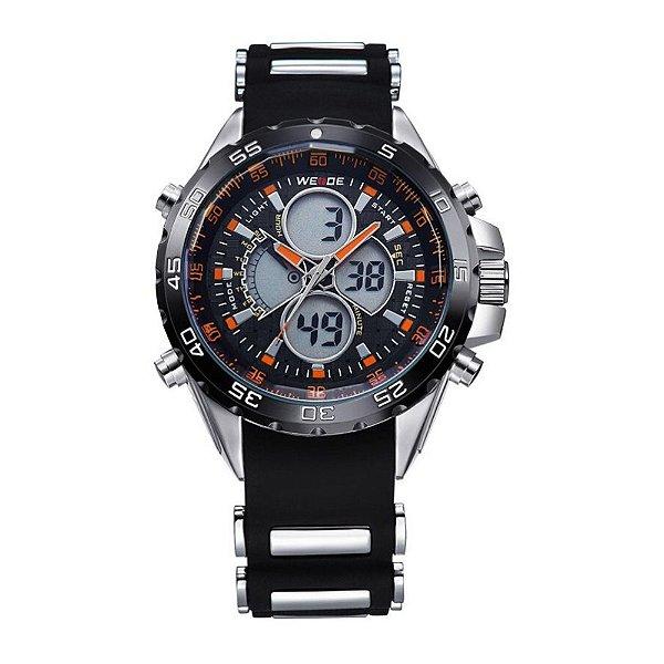 Relógio Masculino Weide AnaDigi WH-1103 - Preto e Laranja