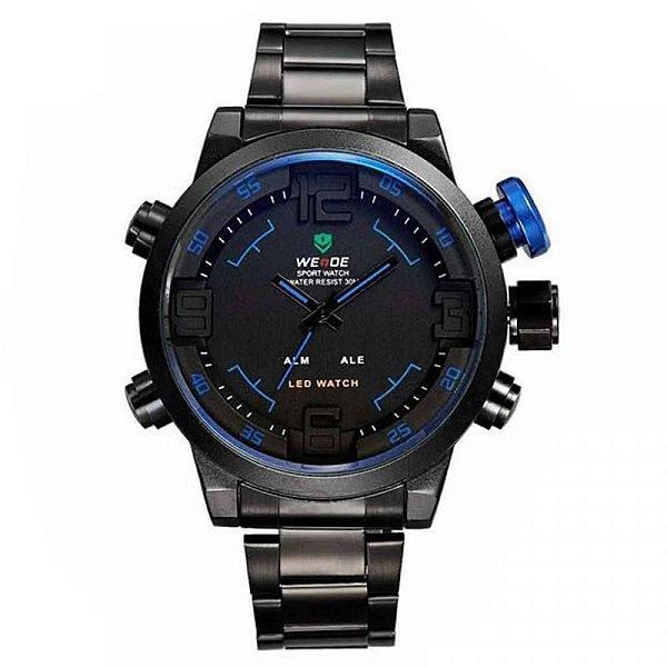 Relógio Masculino Weide AnaDigi Casual WH-2309 Azul