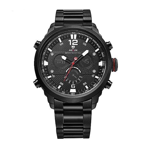 Relógio Masculino Weide AnaDigi WH-6303 - Preto e Branco