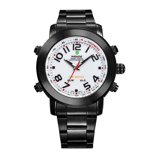 Relógio Masculino Weide AnaDigi WH-1105 - Preto e Branco