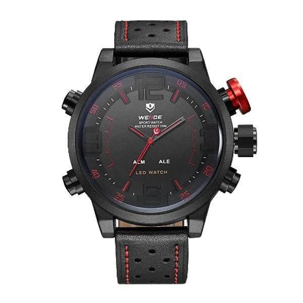 Relógio Masculino Weide AnaDigi WH-5210 - Preto e Vermelho