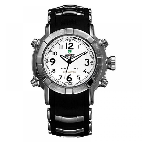 Relógio Masculino Weide Analógico WH-1106 - Preto, Prata e Branco