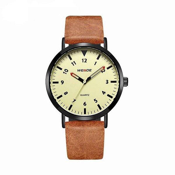 Relógio Masculino Weide Analógico WD003 - Marrom, Preto e Bege